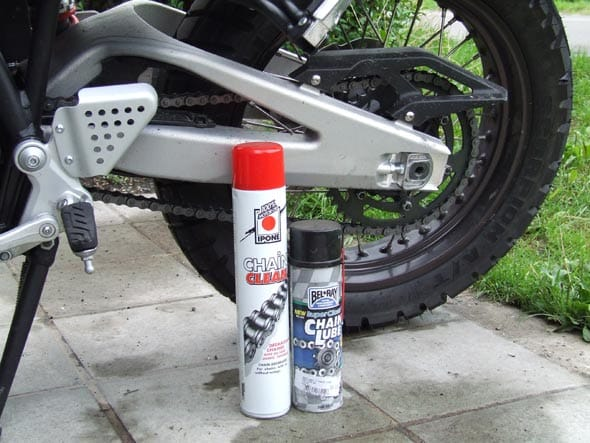 Ketting reinigen motor